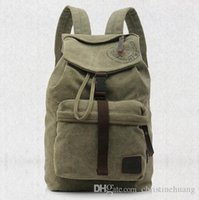 Unisexe sac à dos en toile vintage Travel Camping Treking Satchel College School Bag