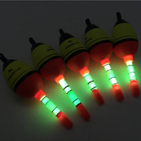 Wholesale Glow Bobber - Wholesale- 5 Pcs 5g 15g 30g 40g Luminous Fishing Float EVA+10pcs Glow Lights Stick Night Bobber Tube Lighting Foam Floats For Fishing