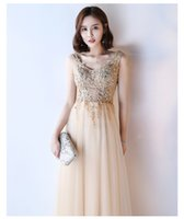 Wholesale Jersey Knit Evening Gowns - Sexy V Neck Lace Long Prom Dresses 2017 New Tulle Beaded Appliques Princess Ball Gown Vintage Evening Dress Long Vestido De Festa