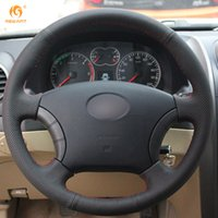 Wholesale great wall wingle - Mewant Black Artificial Leather Car Steering Wheel Cover for Great Wall Haval Hover H3 H5 Wingle 3 Wingle 5