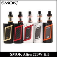 Wholesale Tank Refill - SMOK Alien Kit With 220W Alien 220 Mod Firmware Upgradeable 3ml TFV8 Baby Tank Top Refill System DHL