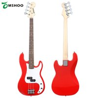 Wholesale Electric Bass Guitar Bag - Wholesale- ammoon Solid Wood Electric Bass Guitar PB Style Basswood Body Rosewood Fingerboard with Gig Bag Strap Cable Pickups