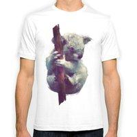 Wholesale Koala Shorts - Koala New Fashion Man T-Shirt Cotton O Neck Mens Short Sleeve Mens tshirt Male Tops Tees Wholesale