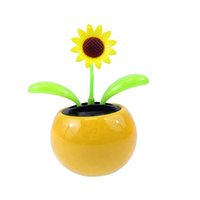 Wholesale Dancing Sunflower Toy Solar - Wholesale-Solar Toy Mini Dancing Flower Sunflower Great as Gift or Decoration Ship in Random Color