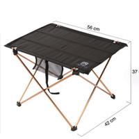 Wholesale Aluminium Picnic Table - Wholesale- Oxford Fabric Portable Foldable Folding Table Desk Furniture Outdoor Picnic Aluminium Alloy Newsuper discount