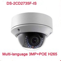 cctv h264 al por mayor-Original DS-2CD2735F-IS reemplazar DS-2CD2732F-IS H265 H264 Cámara IP Cámara de red apoyo POE CCTV IP VF lente IPC