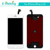 siyah beyaz iphone toptan satış-IPhone 6 6 Artı LCD Ekran Dokunmatik Ekran Digitizer Meclisi Hiçbir Ölü Piksel Siyah Beyaz renk + Ücretsiz DHL Için iPhone 6 6 P