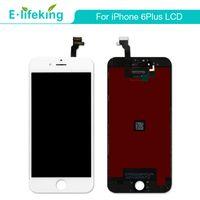 ingrosso schermo nero touch nero-Per iPhone 6 6 Plus Display LCD Touch Screen Digitizer Assembly No Dead Pixel Nero Colore bianco + DHL libero per iPhone 6 6P