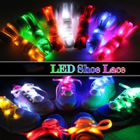 leuchtende turnschuhe großhandel-30Pcs (15pairs) LED Schnürsenkel Luminous blinkende Blei Schnürsenkel Disco Party Casual Sneaker Leuchten Wasserdichte Glow Nylon Strap Lampe Bunte