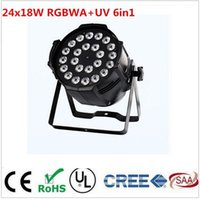 Wholesale Dj Uv Lights - 24x18W RGBWA+UV 6in1 LED Par LED Luxury DMX ghts dj lighting rgbwa uv 6in1 led par light DJ dmx light