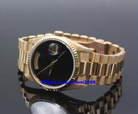 relógios onyx venda por atacado-Presente de natal relógios de luxo suíço relógios de luxo suíço marca top black dial 18238 Ouro de 18k casal relógio de fábrica rápido Onyx 41mm Dial ...