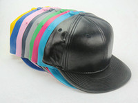 Wholesale Black Snapback Blank - 2017 New Leather Blank No brand snapback caps baseball Hats
