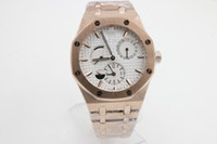 Wholesale Cheap Rose Gold Watch Men - Rose gold case wholesale 43mm Promotion automatic cheap fashion new brand men watch stainless steel wristwatch men's Watches