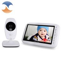 moniteur de sécurité vidéo infrarouge achat en gros de-Vente en gros - 7 pouces 2.4GHz sans fil vidéo Baby Monitor TFT LCD Dual View avec sécurité infrarouge de vision nocturne bébé Nanny