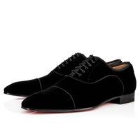 ingrosso eleganti scarpe casual per gli uomini-Elegante abito da sposa da uomo d'affari Greggo Orlato Flat, Scarpe oxfords rosse di fondo, scarpe casual da passeggio per uomo
