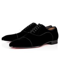 elbise ayakkabıları iş oxford toptan satış-Zarif İş Parti Gelinlik Greggo Orlato Düz, Moda Kırmızı Alt Oxfords Ayakkabı, Açık Erkekler Rahat Yürüyüş Ayakkabıları
