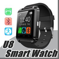 1X Bluetooth Smartwatch U8 U Montres Montres Montres Smart Watch pour iPhone 6 6S 7 Plus Samsung S7 S8 bord Note 5 7 8 HTC Android Phone A-BS