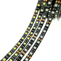 Wholesale Black White Strips - Black PCB LED Strip 5050 RGB IP65 Waterproof DC12V 300led 5m Flexible LED strip lights 100m lot DHL free shipping