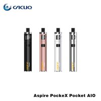 Wholesale Aspire One Battery - Aspire PockeX Pocket AIO Kit All-in-One Device With 2ml Top Filling Leak Proof Design 1500mah Battery 0.6ohm PockeX Coil 100% Original