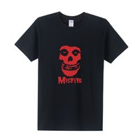 Wholesale Punk Music - The MISFITS Shirts Short Sleeve HARDC0RE Punk Men T Shirt Cotton Skull Fashion Music Rock T-Shirt Free Shipping OT-320