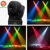 ingrosso luci a punto mini in movimento-Spot LED 30W Luce DMX Stage Spot Moving 8/11 Canali dj 8 gobos effetto luci da palco Mini LED Moving Head Trasporto veloce