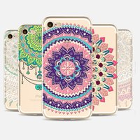 Wholesale Thin Cell Phones For Sale - Mandala TPU painting cell Phone Case For Apple iphone 7 case ultra thin soft silicone back cover shell for iphone 5S 6S 7 Plus 2017 hot sale