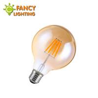 Wholesale Wholesale Ampoule - Wholesale-Led lamp g80 golden led bulb e27 110v 220v vintage edison filament light bulb for home decor energy saving lamp lampade ampoule