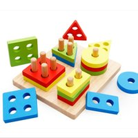 Wholesale Toddler Stacking Toys - Geometric Board Block Stack Sort Chunky Puzzle Educational Toy For Kid Children Baby Toddler new brand