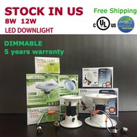 Led Energy Star online - Dimmable 8W 12W Led light led Recessed Downlight 4'' 5'' 6'' UL cUL Energy-star Stock in US best choice for retailer