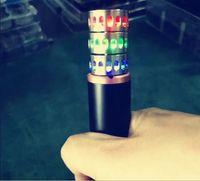 Wholesale Heat Rings - Vape Band LED Rings with Superman Batman Flash Captain America Logo Colorful LED Metal Rings fit RDA RTA Atomizer Mods heat sink adaptor