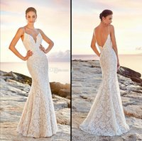 Wholesale Sequin Fit Flare Dress - open back wedding dresses 2018 eddy k bridal fit and flare deep plunging spaghetti neckline chapel train