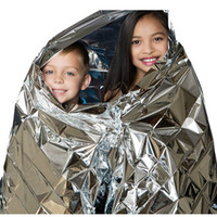 Silver Multifuncional Outdoor Camping Waterproof Emergency Survival Insulation Foil Thermal Primeiros Socorros Rescue Blanket Emergency Pad 210 * 140