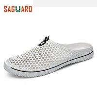 Wholesale Hollow Out Sandals - SAGUARO Summer Slippers Men 2017 New Hollow Out Breathable Beach Sandals Shoes Unisex Casual Slip-on Flats Flip Flops zapatos