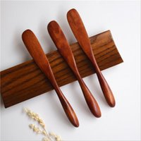 palas de madera al por mayor-Eco-Friendly Wooden Butter Knife Shovel Utensilios de cocina de madera al por mayor