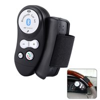 Wholesale Steering Hands Free Kit - Wholesale-Black Car Steering Wheel Bluetooth V4.0 and EDR Hands free Call Kit with Mic LED Indicator