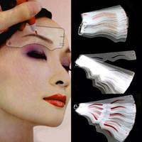 modelador de sobrancelhas venda por atacado-2 pack A + B Estilo Microblading Maquiagem Permanente Suprimentos Sobrancelha Template Stencils Cartões