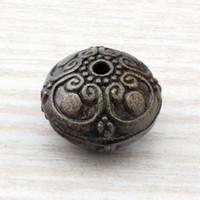bronz bilezik aksesuarları toptan satış-MIC 50 ADET / Çok Çinko Alaşım Antiqued Bronz El Sanatları Yuvarlak Spacer Boncuk 16mm DIY Aksesuarları Fit boncuklu bilezik