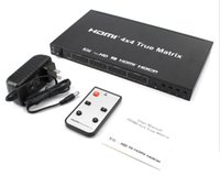 Wholesale 4x4 switch for sale - Group buy HDMI Matrix HDMI in and out x4 D HDMI Switch splitter with Remote Control Full HD P