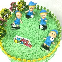 Wholesale Football Birthday Decorations - Football Soccer Sports Figures Cake Toppers football game Silhouette Cupcake Toppers sports event Party birthday toothpicks party decoration
