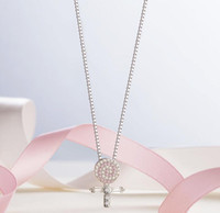 Wholesale Wholesale Lollipop Necklace - Popular Jewelry 925 Silver Full drill lollipop Pendant Fit Collarbone chain Necklace jewelry 161