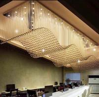 Wholesale Cristal Light Sale - Top Sale Luxury Modern Crystal Chandelier For Living Room Rectangle LED Lustres De Cristal Lamp Long Dining Room Light Fixture LLFA