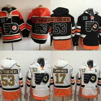 e030a504ed3 #53 Shayne Gostisbehere Philadelphia Flyers Hockey Jersey Hoodies 100  Anniversary Patch Men's Stitched Embroidery Logos Sweatshirts Jerseys