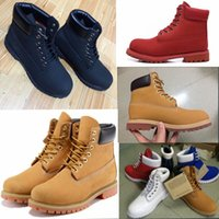 Wholesale Martin Women Leisure Boots - best Martin Boots big yellow Boots Brand Mens Women Genuine Leather Waterproof Outdoor Boots Leather Hiking Shoes Leisure Ankle Boots