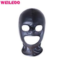 Wholesale adult sets resale online - Eyes Mouth Unblocked Sex Mask Bdsm Mask Adult Sex Toys Bdsm Bondage Set Fetish Mask Slave Bdsm Sex Toys For Couples Adult Games