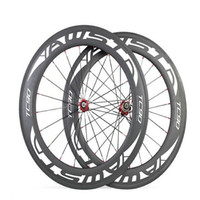 Wholesale full ceramic bearings - 3K Glossy WAST Full Carbon Bike Wheels Clincher Tubular 88mm 700C basalt surface bicycle Carbon Wheelset ceramic bearing hubs wheelset