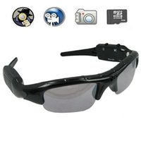 mini grabadora de dvr portátil al por mayor-720 * 480 30fps gafas de sol cámara portátil gafas Mini videocámara DVR gafas de sol cámara estenopeica Mini Audio Video Recorder con caja al por menor