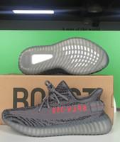 Wholesale basketball boots wholesale online - AH2203 Beluga Boost V2 Real Boost Factory Beluga V2 Boost Kanye West DA9572 Dark Green Running Shoes Cream White Zebra Sneakers