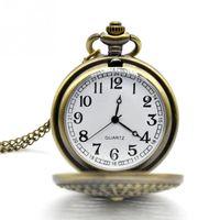 Wholesale Relogio Bolso Vintage - Wholesale-Fashion Vintage Design Pocket Watch Women Man Peacock Pattern Bronze Alloy Material Quartz Watch Chain relogio de bolso
