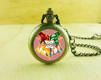 Wholesale Harry Potter Necklace Pocket - Wholesale Harry Potter Wearable Art Quartz Pocket watch fob, Stained Glass Hogwarts Women Necklace For Gifts