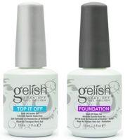 Wholesale harmony gelish nails online - 60pcs Soak off led uv harmony gelish gel nail polish gel lacquer base coat foundation and top coat